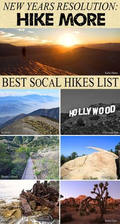 Start a New Years resolution you actually want to finish. This list of California hikes will have you excited to explore the beautiful state.