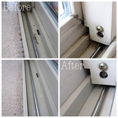 Cleaning out window tracks--vinegar does it again! I need to do this!