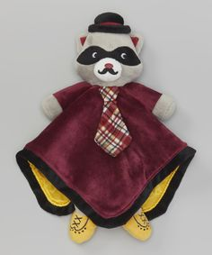 Look at this Baby Starters 16'' x 16'' Maroon Raccoon Lovey on #zulily today!