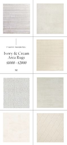 7 Savvy Favorites: Minimal Cream & Ivory Area Rugs For Every Budget — The Savvy Heart Wool Area Rugs, Beige Area Rugs, Minimalist Rugs, Heart Journal, Erin Gates, Cream Area Rug, Rugs Usa, White Rug, Furniture Layout