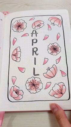 April Bullet Journal Setup: Cherry Blossom Theme