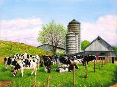 dairy cows farm ~ Barnyard Beauties by Thelma Winter