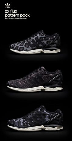 adidas ZX Flux Pattern Pack, exclusive to sneakersnstuff