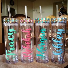 The bow is not included Looking for a Personalized Gift to give Your Bridesmaids? Yourself ? Co-Worker? Sport Team? Class ? BIrthay Party and much More !!!!! Make a Perfect gift for them!!! Fun, pretty and personalized!!! ****Hand WAsh Only ****16 oz Acrylic Tumbler ****BPA Free