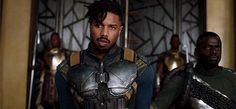 Michael B. Jordan as Erik Killmonger in Black Panther (2018)