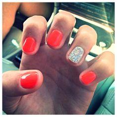 Neon, glitter, shellac, nails!