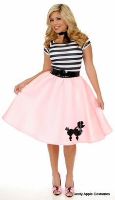 Plus Size Pink Poodle Dress Costume - Candy Apple Costumes - Browse All Plus Size Costumes