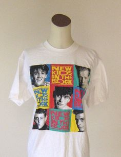 New Kids on the Block White 1990's Shirt Top by RetroFascination, $23.00/// I had this EXACT same shirt