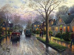 Thomas Kinkade - Hometown Christmas,2002