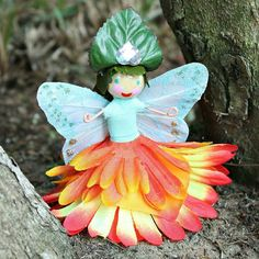 Fairy Dolls: Why not make some fun fairy dolls for your fairy garden? I have nine nieces and they are fairy and princess obsessed. These dolls are a fun family project we can all make the next time they come to visit.