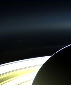 Saturn and Earth #Cassini #JPL