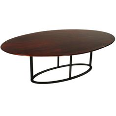 Vintage oval Rosewood dining table from Brazil   From a unique collection of antique and modern dining room tables at http://www.1stdibs.com/furniture/tables/dining-room-tables/