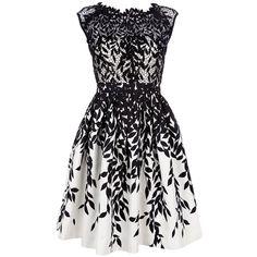 BLUMARINE semi sheer lace dress ($1,536) found on Polyvore