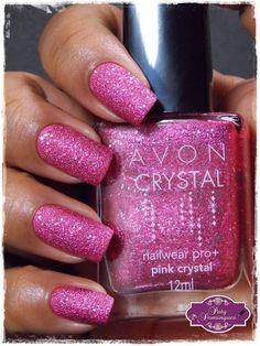 Pink Crystal - Avon  #avon #esmaltadasdapatydomingues #liquidsand