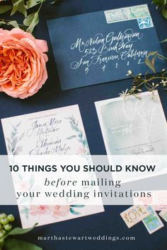 10 Things You Should Know Before Addressing Embling And Mailing Your Wedding Invitations