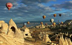 Cappadocia in the Anatolian plains of Turkey is a geological wonder of towering boulders & honeycombed hills. Its unique moon-like landscape, underground cities, cave churches & houses carved in the rocks must been seen to be believed. The topography is matched by the human history - people have long utilized the region's soft stone, seeking shelter underground, leaving the countryside scattered with fascinating troglodyte-style architecture. Sky is filled with hot-air balloons, a popular…