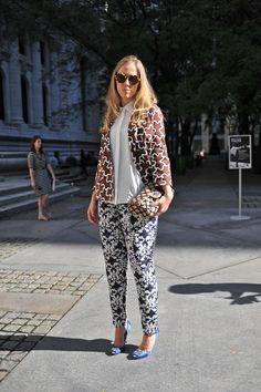 Prints Charming at New York Fashion Week      #StreetStyle #Fashion #NYFW #NewYorkFashionWeek