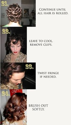 30's - 40's Hair Tutorial... someone help me do this! Maybe my hair is too long. : (