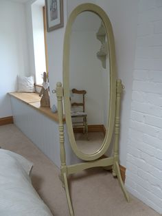 This cheval mirror was a commission piece.  Painted with Annie Sloan 'Versailles' x x
