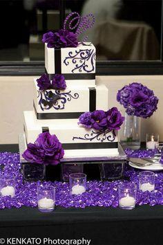 purple wedding cake | purple wedding cake