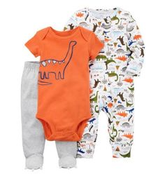 Carter's Baby Boys' 3 Piece Dinosaur Sleep and Play Set 6 Months Toddler Pants, Toddler Outfits, Baby Boy Outfits, Kids Outfits, Toddler Girl, Baby Boy Fashion, Toddler Fashion, Babies Fashion, Fashion Kids