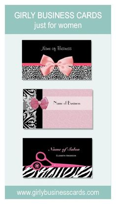 Girly Business Cards http://www.girlybusinesscards.com/ #girlybusinesscards #businesscards #fashionbusinesscards