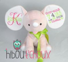 Personalized elephant   Www.hiboutchoux.com Elephants, Tweety, Kids, Fictional Characters, Art, Young Children, Art Background, Children, Elephant