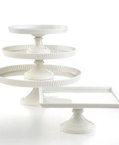 Martha Stewart Collection Whiteware Cake Stands $25, $36, $48
