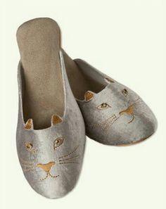 Cat Slip On Shoes from Victorian Trading Co.