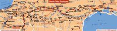 Chemins de Compostelle via Tolosana ou voie d'Arles La via Tolosona ou le chemin d'Arles, d'Arles jusqu'à Puente la reina, cette route de randonnée rejoint à l'Est, la via Domitia qui mène à Rome et vers l'Ouest le camino francès. La route d'Arles est la route qui a connu le plus tôt une forte tradition pèlerine.