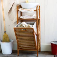 This Bamboo Laundry Hamper is made from rapidly-renewable bamboo and recycled plastic bottles. Stash in a bedroom corner or bathroom; it's too cute to hide in a closet.
