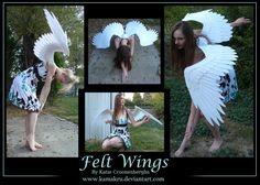 Felt Wings 5ft white - akkiko by Kamakru.deviantart.com on @deviantART