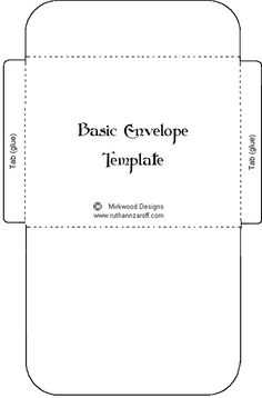 FreePrintable Package Pocket Template Just Print On The Back Of