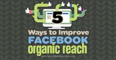 With changes to Facebook's news feed algorithm, you're facing increased competition to get your content in front of your fans. In this article you will learn five ways to improve your Facebook organic reach.