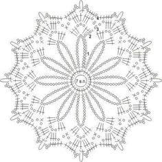 Crochet Snowflake Pattern, Crochet Doily Diagram, Crochet Mandala Pattern, Crochet Stars, Crochet Snowflakes, Crochet Doily Patterns, Thread Crochet, Crochet Doilies, Crochet Flowers