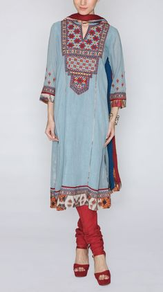 Ritu Kumar Quarter Sleeves Suit Designs