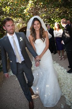 Vera Wang wedding gown (Lily Aldridge looks gorgeous in this simple, lacy confection). Wedding Groom, Wedding Men, Wedding Suits, Wedding Attire, Wedding Styles, Wedding Photos, Dream Wedding, Wedding Hair, Lily Wedding
