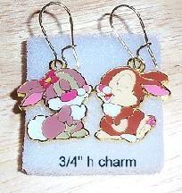 Mr & Mrs Thumper Pierced Earrings - too cute!