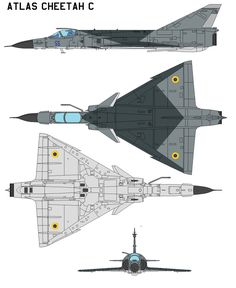 The Atlas Cheetah is a fighter aircraft currently operated by the Ecuadorian Air Force. It was operated by the South African Air Force (SAAF) between 1986 and 2008. It was first built as a major up...
