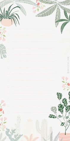 Framed Wallpaper, Flower Background Wallpaper, Flower Backgrounds, Wallpaper Backgrounds, Notebook Paper Printable, Free Printable Stationery, Printable Paper, To Do Planner, Note Doodles