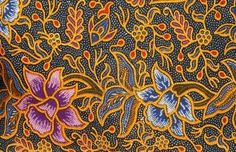 Malaysian Batik design Stock Photo