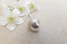 Chunky Silver Acorn Necklace £120.00