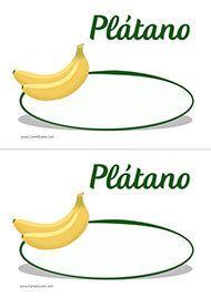 Cartel de precios para los plátanos. Frutería. Verdulería. Platano Y Banana, Supermarket, Fruit, Shopping, Frases, Cherries, Fruits And Vegetables, Garlic, Guava Fruit