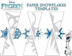 Frozen - templates. Flocos de neve em papel