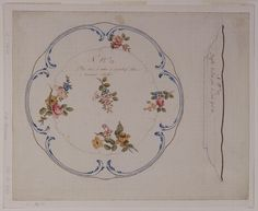 "Drawing, ""Design for Painted Porcelain Plate, for Sèvres Porcelain Manufactory"", ca. 1766"