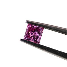 FANCY VIVID PURPLISH PINK  BEAUTIFUL AND RARE NATURAL FANCY VIVID PURPLISH PINK 0.16 CT PRINCESS CUT WITH GOOD CUT AND POLISHED, BEST SUITABLE FOR RING CENTRE PIECE. OR CENTRE PIECE IN ANY JEWELLERY WITH GIA CERTIFICATE #5171602625 #fancyvividpink