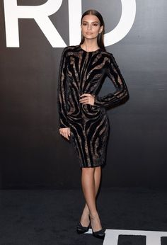 Emily Ratajkowski - Tom Ford Autumn/Winter 2015 Womenswear Collection Presentation..Milk Studios, Hollywood, California..February 20, 2015.