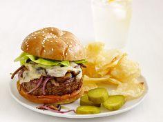Swiss Mushroom Burgers Recipe : Food Network Kitchen : Food Network - FoodNetwork.com