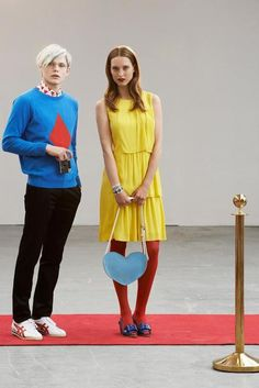 Andy Warhol and Paulette Goddard fashion shoot - Peter Jensen 2014