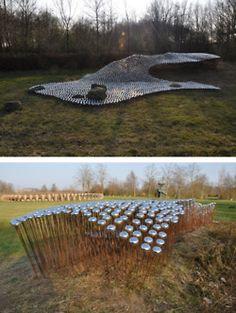 """sound-art-text: """" Sound Architecture IV: 5000 Bicycle Bells Installation by Ronald van der Meijs Amsterdam-based artist Ronald van der Meijs designs architectonical installations and sculptural. Sound Sculpture, Wind Sculptures, Sculpture Art, Outdoor Sculpture, Outdoor Art, Sound Installation, Art Installations, Instalation Art, Sound Art"""